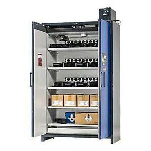 Asecos Veiligheidskast Battery Charge, 5 roosters + contactdozen, 1 lekbak, B 1193 x D 615 x H 2224 mm