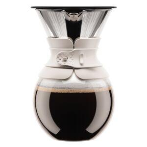 Bodum POUROVER Cafetière met permanent filter, rvs, 8 kops, 1.0 l   Gebroken wit