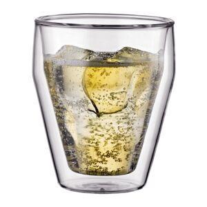 Bodum TITLIS Set van 2 dubbelwandige stapelbare glazen, klein, 0.25 l  Transparant