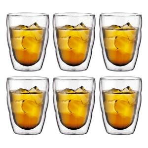 Bodum PILATUS Set van 6 glazen, dubbelwandig, 0.25 l  Transparant