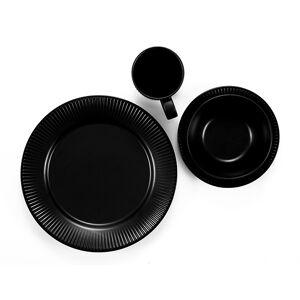 Bodum DOURO Set van 4 Dessertborden, ø 18 cm, 7 inch, porselein  Zwarte mat
