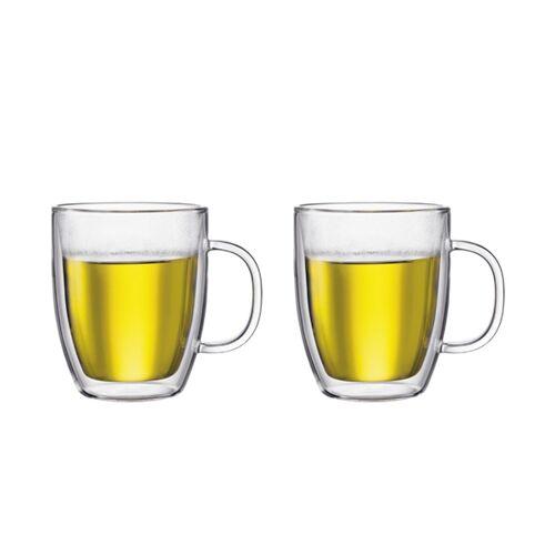 Bodum BISTRO Set van 2 dubbelwandige glazen met oor, 0.45 l  Transparant