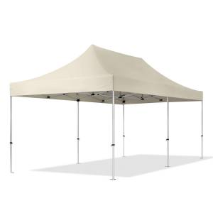 TOOLPORT Easy up Partytent 3x6m Hoogwaardig polyester 400 g/m² crème waterdicht Easy Up Tent, Pop Up Partytent, Harmonicatent, Vouwtent