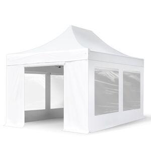 TOOLPORT Easy up Partytent 3x6m PVC 620 g/m² wit waterdicht Easy Up Tent, Pop Up Partytent, Harmonicatent, Vouwtent
