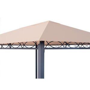 TOOLPORT Tuinpaviljoen 3x4m polyester met PU-coating 220 g/m² Crème waterdicht Paviljoentent, Paviljoen