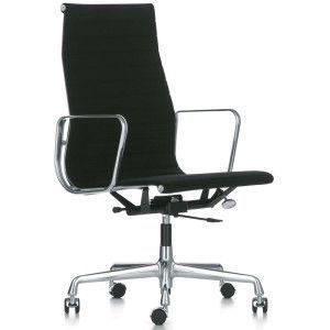 Vitra EA 119 bureaustoel Hopsak zwart onderstel gepolijst