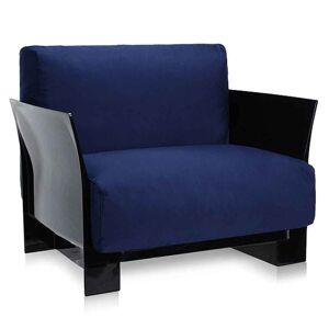 Kartell Pop Outdoor fauteuil blauw Sunbrella zwart onderstel