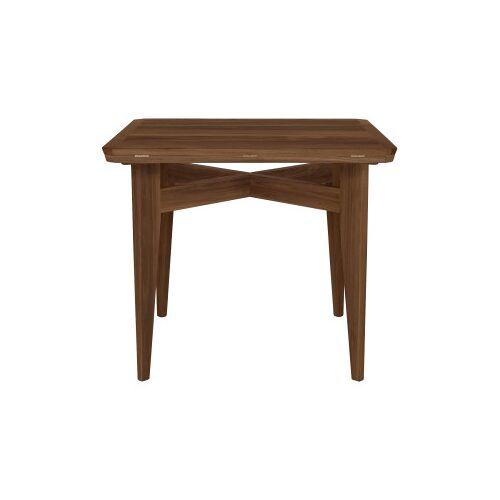 Gubi B-Table uitklapbare tafel 85x85/116 walnoot mat gelakt