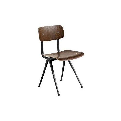 Hay Result stoel gerookt eiken zwart onderstel