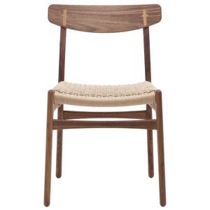 Carl Hansen & Son CH23 stoel Walnut Oil/Natural paper cord/Oak cover cap