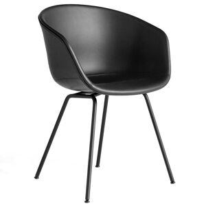Hay About a Chair AAC27 zwart stoel Silk SIL0842 leer