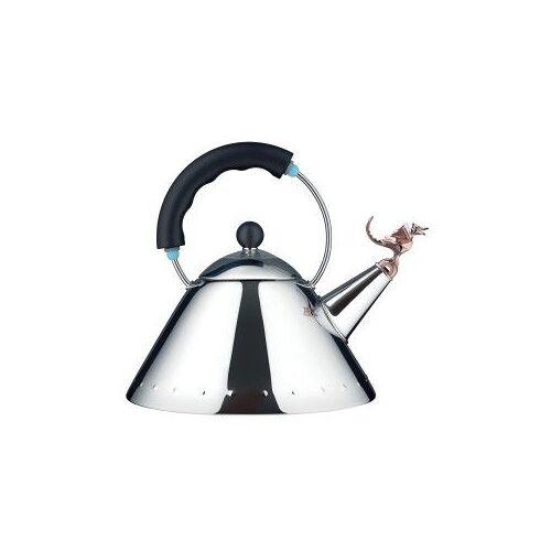 Alessi Tea Rex fluitketel zwart