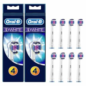 Oral-B 3D White Opzetborstels, Verpakking Van 8