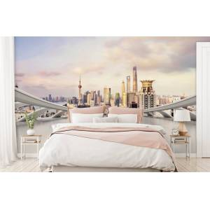 Wallgroup BV Fotobehang Skyline van Shanghai