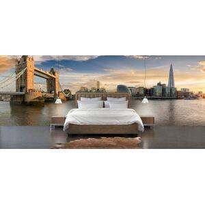 Wallgroup BV Fotobehang Skyline London met Tower Bridge