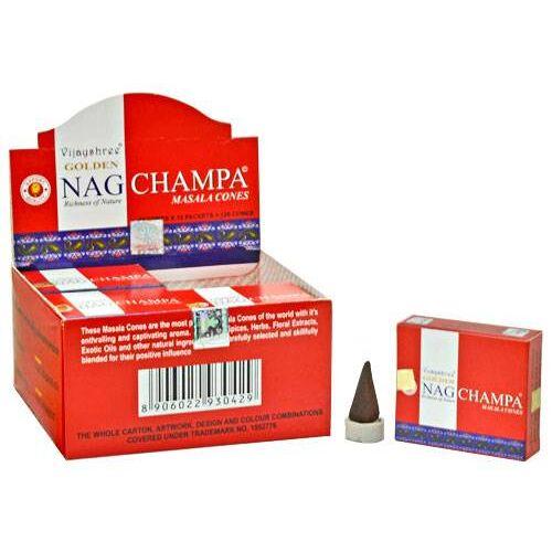 Spiru Golden Nag Wierook Kegel Champa (12 pakjes)
