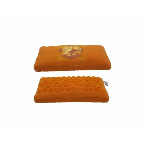 Spiru Acupressuur Nekkussen Oranje Katoen - Boeddha - 42 x 22 x 5 cm