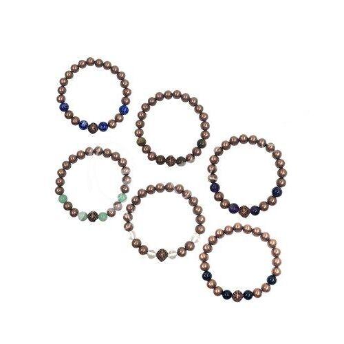 Spiru Edelsteen Armband Edelstenen/ Koper (Set van 6)