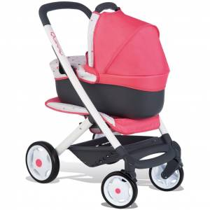 Smoby Quinny Poppenwagen 3-in-1 Roze