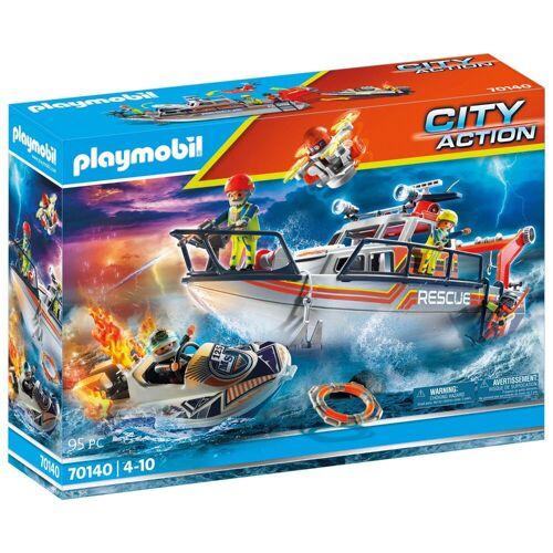 Playmobil 70140 Redding Op Zee: Brandbestrijdings missie Met Reddingscruiser