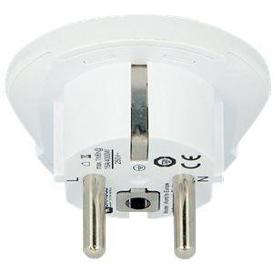 SKROSS Country Adapter World to Europe - Stroomconnectoradapter - vermogen type F (P) naar SEV 1011, type L, type N, type I, type G, type C, type B, type A (R) - 100-250 V - 16 A - wit