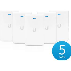 UBIQUITI Unifi UAP-AC-IW - Draadloze-toegangspunt - Wi-Fi - Dual Band - gelijkstroom - inbouw (pak van 5) - wit