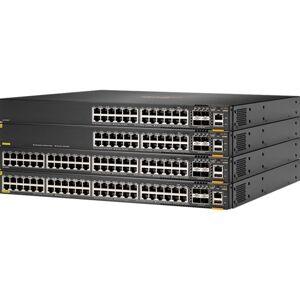 HPE Aruba 6300F - Switch - L3 - Beheerd - 48 x 10/100/1000 (PoE+) + 4 x 50 Gigabit Ethernet SFP56 - luchtstroom van voorkant naar achterkant - rack-uitvoering
