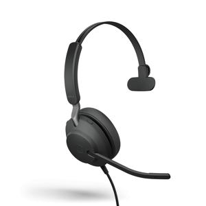 Jabra Evolve2 40 UC Mono - USB-C Headset - op oor - met bekabeling - USB-C - zwart