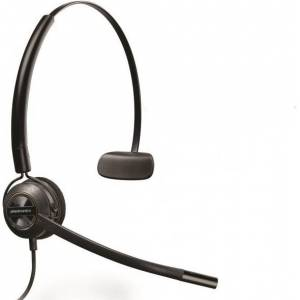 Plantronics EncorePro HW540 - Headset - mono - op oor - omkeerbaar - met bekabeling - zwart