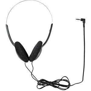 NEDIS HPWD1101BK - Slimline - koptelefoon - op oor - met bekabeling - 3,5 mm-stekker, 6,35 mm-stekker - zwart