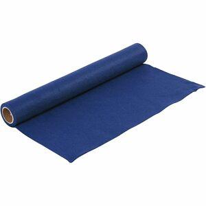 Merkloos 3x Hobby materialen blauw vilt 1,5 mm 100 x 45 cm - Vilt