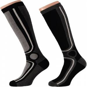 Apollo 4x Zwarte ski sokken voor heren -