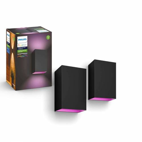 Philips Hue Outdoor Resonate - White & Color - zwart (2-pack)