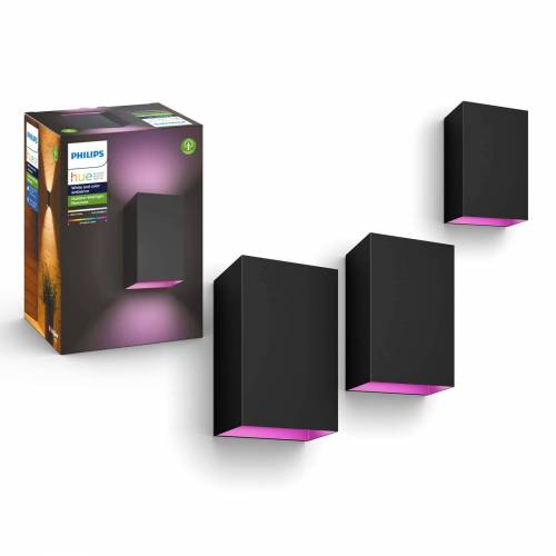 Philips Hue Outdoor Resonate - White & Color - zwart (3-pack)