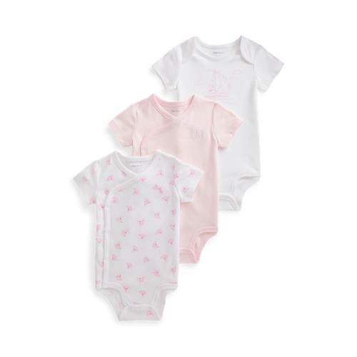 Baby Girl Yacht-Print 3-Piece Bodysuit Set  - Delicate Pink Multi - Size: 9M