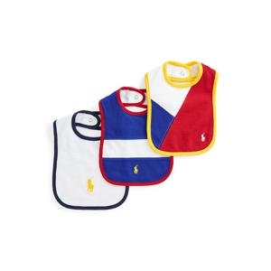 Baby Boy Cotton Mesh Bib 3-Pack  - Multi - Size: One Size