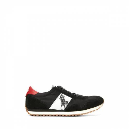 Polo Sport Train 90 Trainer  - Black/Red - Size: 8