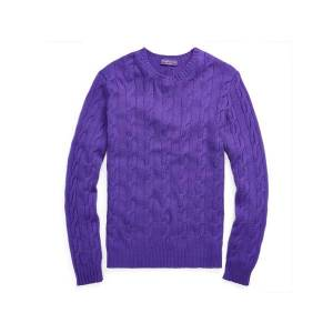 Purple Label Cable-knitted CashmereJumper  - Classic Violet - Size: 2X-Large