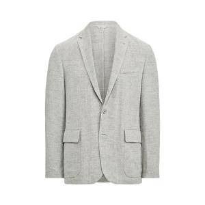 Purple Label Tick-Weave Sport Coat  - Light Grey And Cream - Size: UK 42