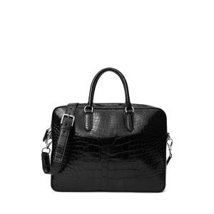 Purple Label Alligator Commuter Bag  - Black - Size: One Size