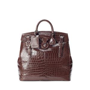 Purple Label Crocodile Cooper Bag  - Dark Brown - Size: One Size