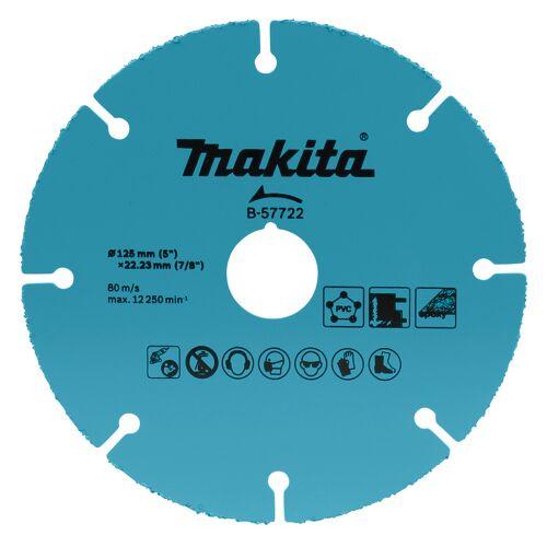 Makita B-57722 Doorslijpschijf 125x22,23x2,0mm   Mtools