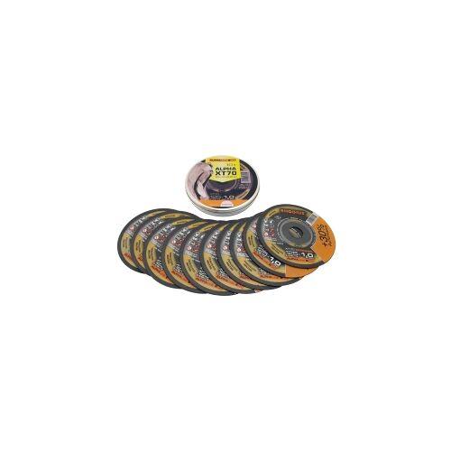 mtools 10 stuks Rhodius XT70 doorslijpschijven voor Staal / RVS 115x1,0mm   Mtools