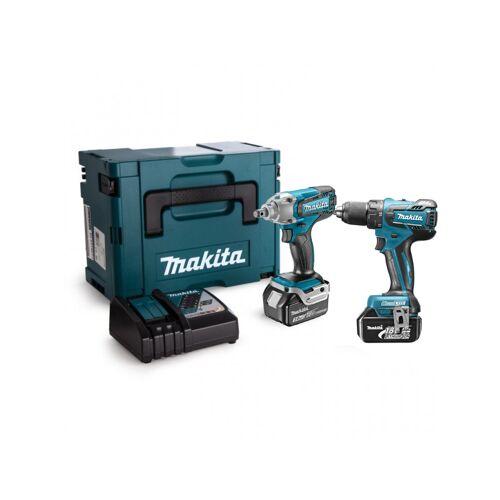 Makita DLX2231J 18 V Combiset, boor,- schroefmachine met een slagmoersleutel