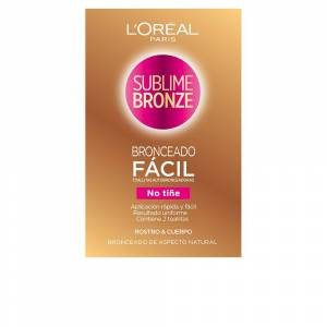 L'Oreal Makeup SUBLIME BRONZE toallitas autobronceadoras cuerpo & cara 2 ud