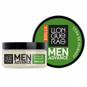 Llongueras MEN ADVANCE BRILLO cera de peinado  85 ml