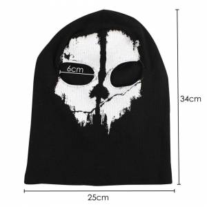 TRIXES Ghost Mask - Balaclava Motorcycling Paintball One Size Colour Black