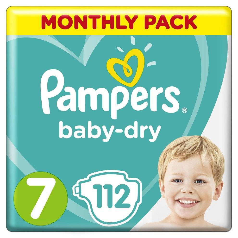 Pampers Baby-Dry Size 7, 112 Nap...
