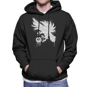 Cloud City 7 (X-Large, Black) Destiny Warlock Graffiti Men's Hooded Sweatshirt