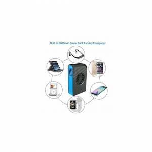 Skyocean Small Personal Fan with 6000mAh power bank, Mini Handheld USB Desk Fan